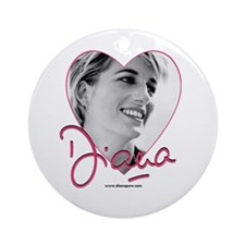 DianaPinkHeart Ornament (Round)