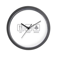 Eat Sleep Bridge Wall Clock