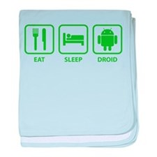 Eat Sleep Droid baby blanket