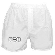 Eat Sleep Flying Boxer Shorts