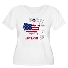 Anti Obama Forward Off A Cliff T-Shirt