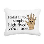 High Fived Face Rectangular Canvas Pillow