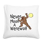 Moon A Werewolf Square Canvas Pillow