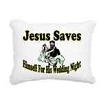 Jesus Saves Rectangular Canvas Pillow