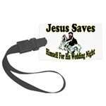 Jesus Saves Large Luggage Tag