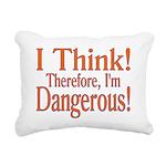 I Think! Rectangular Canvas Pillow