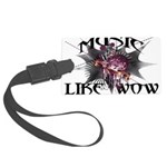 Music Like Wow Large Luggage Tag