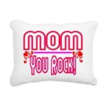 Mom You Rock Rectangular Canvas Pillow