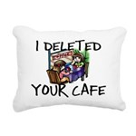 Deleted Cafe Rectangular Canvas Pillow