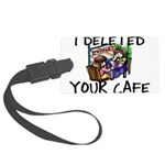 Deleted Cafe Large Luggage Tag
