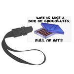 Full Of Nuts Large Luggage Tag