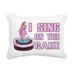 I Sing On The Cake Rectangular Canvas Pillow
