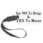 Yes To Booze Large Luggage Tag