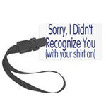 Shirt On Large Luggage Tag