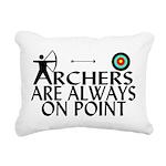 Archers On Point Rectangular Canvas Pillow
