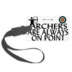 Archers On Point Large Luggage Tag
