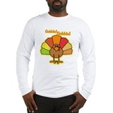 Thanksgiving Turkey Cartoon Gobble Long Sleeve T-S