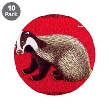 "Badger 1968 German Postage Stamp 3.5"" Button (10 p"
