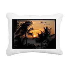 Wailea Sunset Rectangular Canvas Pillow