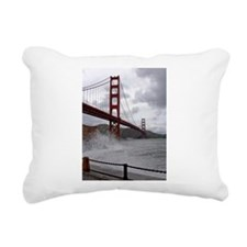 foggy golden gate Rectangular Canvas Pillow