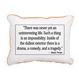 Never Uninteresting Rectangular Canvas Pillow