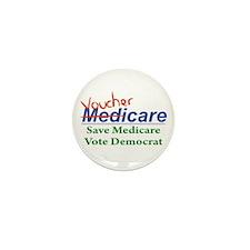Medicare Will Become VoucherCare Mini Button (10 p