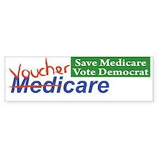 Medicare Will Become VoucherCare! Bumper Sticker