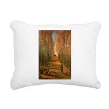 Van Gogh Avenue of Poplars Rectangular Canvas Pill