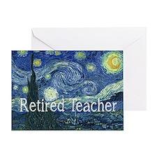 Retired TEacher Van Gogh Blanket.PNG Greeting Card
