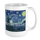 Retired TEacher Van Gogh Blanket.PNG Mug