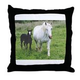 Colt and Horse Love  Throw Pillow