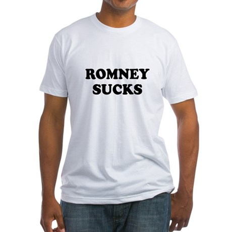 Romney Sucks Fitted T-Shirt