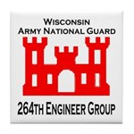 264th Engineer Group Tile Drink Coaster