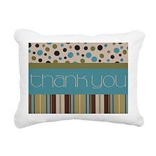 Thank You (Spots & Stripes) Rectangular Canvas Pil