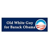 Old White Guy for Barack Obama Car Sticker