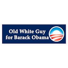 Old White Guy for Barack Obama Bumper Sticker