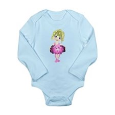 Ballerina in Pink Tutu art Long Sleeve Infant Body