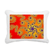 Purple Swirls Rectangular Canvas Pillow