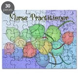Nurse Practitioner Blanket Leaves BLUE.PNG Puzzle