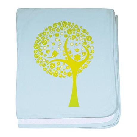 Green Tree baby blanket