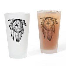 Native American Ornament Drinking Glass