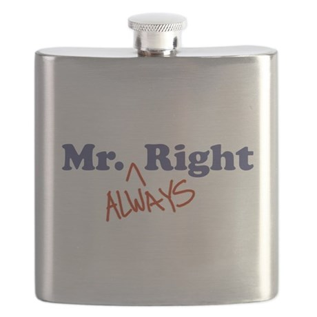 Mr. Always Right Flask