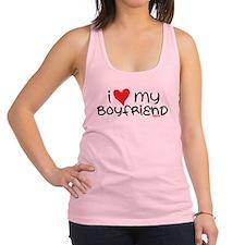 I Heart My Boyfriend Racerback Tank Top