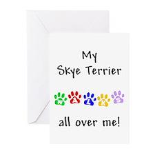 Skye Terrier Walks Greeting Cards (Pk of 10)