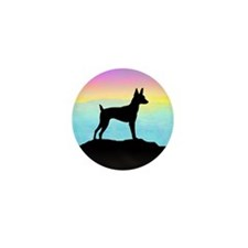 Cute Fox terrier breed art Mini Button (100 pack)