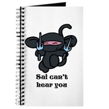 Black Sai Minky with words Journal