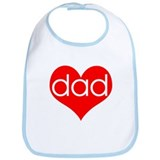 I love Dad Bib