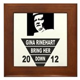 Bring Gina Down Framed Tile