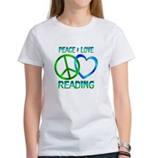 Peace Love Reading Tee
