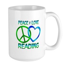 Peace Love Reading Mug